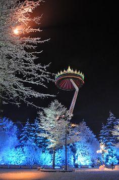 Winter Efteling pagode
