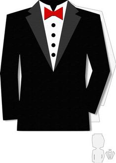 Tuxedo shape card on Craftsuprint designed by Alaa Kay - SVG file for a easy layered tuxedo card design.Craft Robo or Silhouette Digital cutters can be used to cut this file by downloading the FREE Inkscape programme available on the main GSD Menu page. - Now available for download!