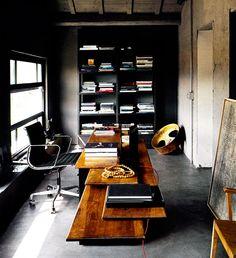 love office chair dark floors dark bookcase really highlights wonderful wood desk
