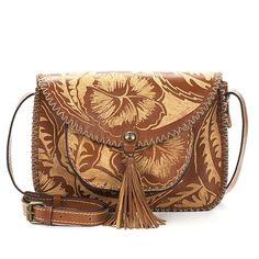 53f318dd3523 Patricia Nash Beaumont Carved Leather Shoulder Bag - 8380505 | HSN