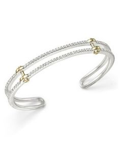 Diamond Cuff in 14K White and Yellow Gold, 1.25 ct. t.w. | Bloomingdale's