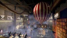 Proto keksintötehdas lennättää Jules Vernen aikaan Jules Verne, Studios, Chandelier, Ceiling Lights, Lighting, Restaurants, Home Decor, Travel, Historia