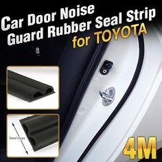 Car Door Auto Noise Guard Rubber Wind Seal Strip Molding 1ea B type For TOYOTA #ZEO #NoiseAbsorptionDoor