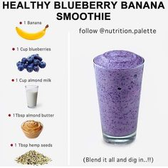Healthy Fruit Smoothies, Fruit Smoothie Recipes, Smoothie Drinks, Healthy Fruits, Smoothie Diet, Healthy Drinks, Protein Smoothies, Healthy Eating, Smoothie Ingredients