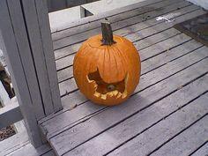 Scottie dog pumpkin! by kristensonline, via Flickr