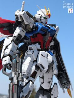 GUNDAM GUY: MG 1/100 Aile Strike Gundam Ver. RM - Customized Build