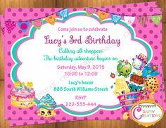 Shopkins Invitation  Shopkins inspired Invitation - Shopkins Invitation - Shopkins Birthday Invitation - Shopkins Themed Party Invite -