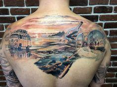 Tattoo Cross Over - tattoo's photo Top Tattoos, Life Tattoos, Tattoo Equipment, Realism Tattoo, English Tattoo, Deathly Hallows Tattoo, Tattoo Photos, Tattoo Artists, Watercolor Tattoo