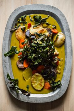 coconut curry with potatoes, carrots, and crispy collards by @Ashley McLaughlin {edible perspective}