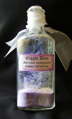 "awesome fairy dust...maybe use ""glitter"" sugar, and pixie sticks for edible ""giggle dust"""