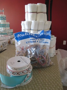 Baby Gift Idea: Diaper Cake directions