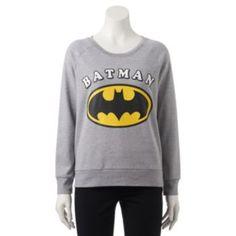 Juniors' DC Comics Batman Logo Graphic Sweatshirt