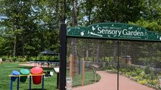 The AHRC's sensory garden, seen here on Friday,