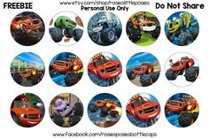 Free Blaze and the Monster Machines Bottle Cap Images. To save this image at the correct size, click on the image. From there right click and save image. **These images are for personal use only. D…