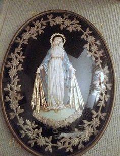 La Madone Relic-Domed Glass FleaingFrance Brocante Society