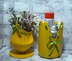 plastic bottle art Do your share of helping save the environment & repurpose plastic bottles By: Sergeich Plastic Bottle Decoration, Reuse Plastic Bottles, Plastic Bottle Flowers, Plastic Bottle Crafts, Diy Bottle, Recycled Bottles, Coke Bottle Crafts, Plastic Bottle Planter, Diy Crafts Hacks