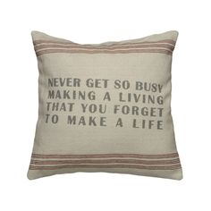 One to think about. :: Priorities Pillow