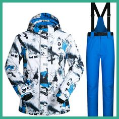 0554a74fc70 New Outdoor Ski Suit Men s Windproof Waterproof Thermal Snowboard Snow Male  Skiing Jacket And Pants sets