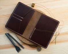 Passport Cover Wallet Horween Chromexcel Tan Leather