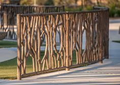 Tree Branch Fence: