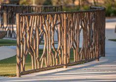 Tree Branch Playground Fence - Durable Decorative Concrete: