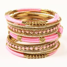 Amrita Singh | Rupal Spring Bangle Set - Fashion Bangle Sets - Indian Bangles