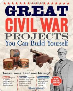 From uniforms and submarines to potato cannons and regimental flags, this interactive book explores the history and inventions of the Civil War by providing building projects and activities. 7th Grade Social Studies, Social Studies Classroom, History Classroom, Teaching Social Studies, Teaching Tools, Teaching Ideas, Teaching Secondary, Teaching American History, American History Lessons