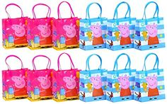 "Peppa Pig Party Favor Goodie Gift Bag - 6"" Small Size (12 Packs) Peppa Pig http://www.amazon.com/dp/B019EHMKK2/ref=cm_sw_r_pi_dp_tObKwb1CEJXTN"
