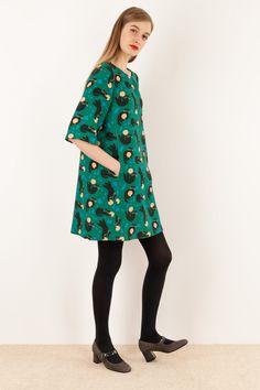 Abito anni 60 - stampa di Anna Kövecses Abbigliamento Donna Made in Italy
