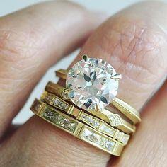 Saturday stack.  Visit our 2.30ct Old European cut diamond 'Laurel' solitaire…