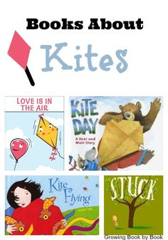 Books for kids: kite flying books compiled by http://growingbookbybook.com