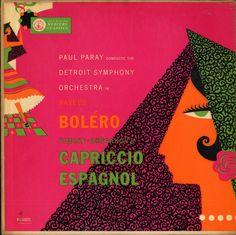 Shop for Detroit Symphony Orchestra - Ravel's Boléro ● Rimsky - Korsakov's Capriccio Espagnol reissues and original pressings on vinyl, CD, and cassette. Detroit, Mercury Records, Used Vinyl, Vinyl Cd, Record Art, Orchestra, Cover Art, Album Covers