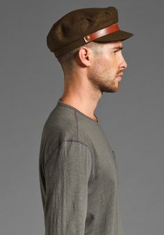 ba1d4aee2e70e  Menswear  Accessories  Hat  37 BRIXTON Fiddler Cap in Olive Brown Leather  Band