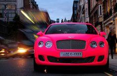 Matt pink Bentley ~hahahaha, ze bestaan nog ook :-)
