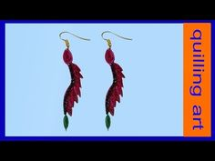 Quilling Earrings drop using a hair comb - YouTube