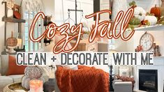 (17) YouTube Fall Cleaning, Tarot Card Decks, Fall Mantel Decorations, Deck Of Cards, Office Decor, Neon Signs, Cozy, Youtube, Home Decor
