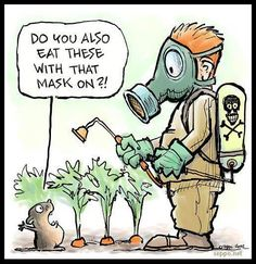 pesticides and herbicides - yuck!
