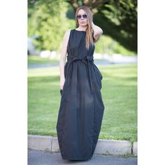 Boho Dress Extravagant Long Dress Daywear Dress Maxi Dress Black... (€92) ❤ liked on Polyvore featuring dresses, plus size kaftan, long boho dresses, plus size dresses, maxi dresses and long maxi dresses