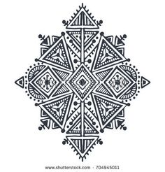 Ethnic vector print in black and white for fabric, cloth design, t-shirts, wrapping Folk Embroidery, Embroidery Designs, Tribal Patterns, Print Patterns, Art Premier, Madhubani Art, Hindu Art, Native Art, Tribal Art
