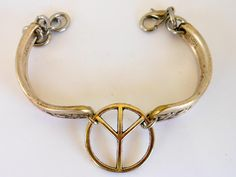 Silver Tone Peace Bracelet   6 Inch    Unique Artisan Crafted by GemstoneCowboy on Etsy
