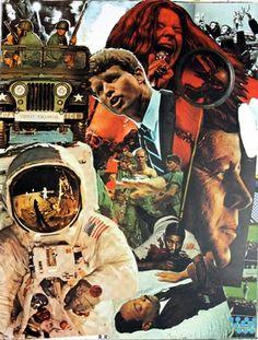 Robert Rauschenberg, signs 1970. Réduit une année en quelques images ? Image synthétique, narration et mise en scène.