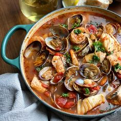 Le Creuset's 2.25qt Braiser is the perfect size when cooking for 1-4 people — and it's the perfect vessel for this Cioppino seafood stew. Bursting with rich flavors and fresh seafood (swap in any kind you like!), this vibrant stew works year-round and is all the more beautiful when paired with our new Artichaut hue. Photo by @annie_eatsfood on Instgram