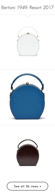 """Bertoni 1949: Resort 2017"" by livnd ❤ liked on Polyvore featuring bag, Bertoni1949, resort2017, bags, handbags, shoulder bags, studded leather handbags, bertoni, studded leather purse and miniature purse"