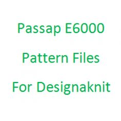 Passap E6000 Pattern Files For Designaknit