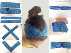 How to Make Headband- Tutorial and Ideas - # .-Comment Faire Headband- Tuto et Idées – How to Make Headband- Tutorial and Ideas – # … how do # ideas - Sewing Headbands, Turban Headbands, Diy Headband, Baby Headbands, Turban Headband Tutorial, Fabric Headbands, Bandana Hairstyles, Diy Hairstyles, Wedding Hairstyles