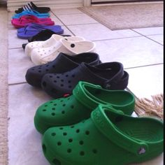 summer time is slipper and crocs time!