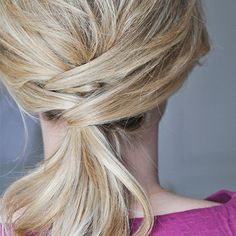Extraordinary Ponytail - Amp up your average ponytail. Take this everyday hairstyle to the next level with quick twists and a few bobby pins.