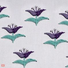 embroidery patterns beginner Adorn your shoes, bags & clothes with this pretty embroidery design Hand Embroidery Patterns Flowers, Hand Embroidery Videos, Embroidery Stitches Tutorial, Hand Embroidery Stitches, Silk Ribbon Embroidery, Crewel Embroidery, Hand Embroidery Designs, Embroidery Techniques, Embroidery Supplies