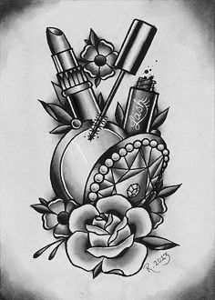 Makeup tattoo - New Site Hand Tattoos, Body Art Tattoos, Portrait Tattoos, Pretty Tattoos, Love Tattoos, Tattoos For Guys, Lipstick Tattoos, Makeup Tattoos, Tattoo Blog