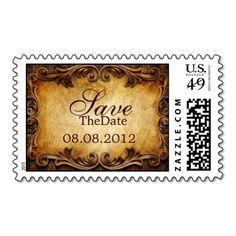 Sophisticated Elegant  western vintage wedding #Western #Vintage #Wedding #Postage #Stamps #Elegant
